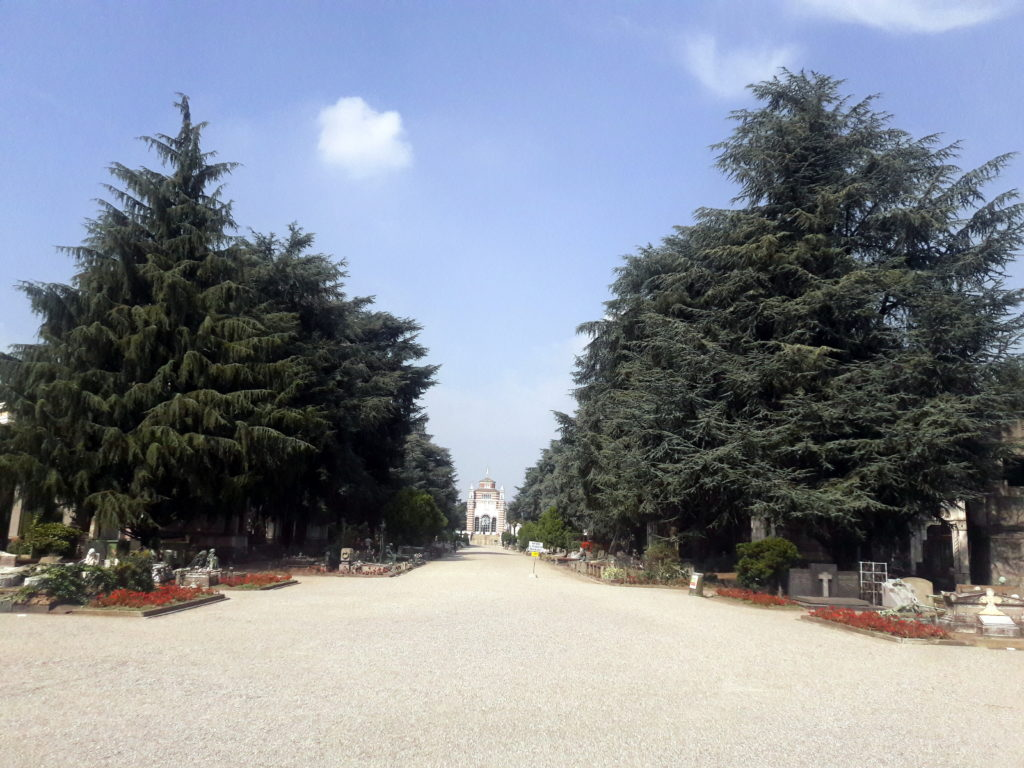 cimitero monumentale milano italia