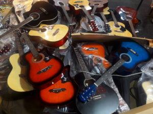 thailand guitars samut prakan temple fair travel southeast asia
