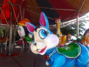 thailand fun merry-go-round temple fair samut prakan travel southeast asia
