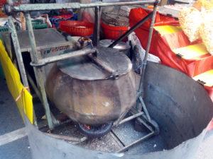 thailand food popcorn temple fair travel southeast asia samut prakan