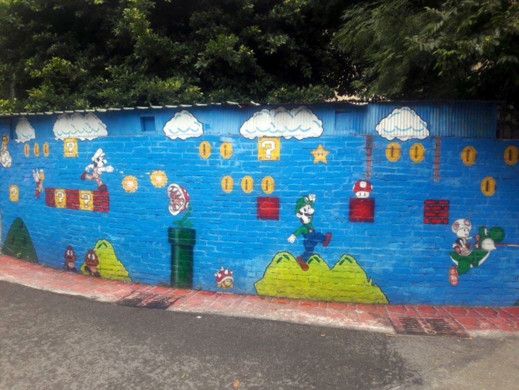 taiwan taichung painted animation lane mario
