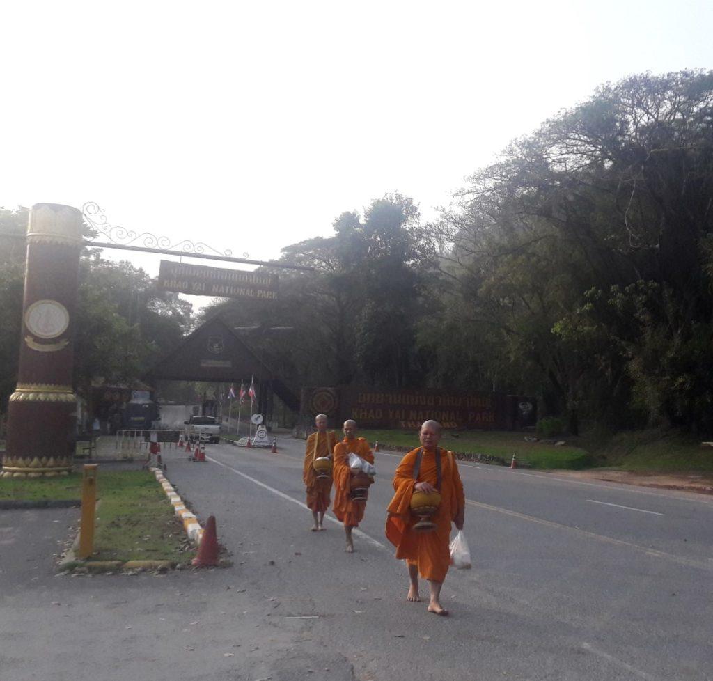 calugari buddhisti parcul national khay yai thailanda