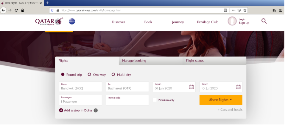 programul qatar stopover bilet avion