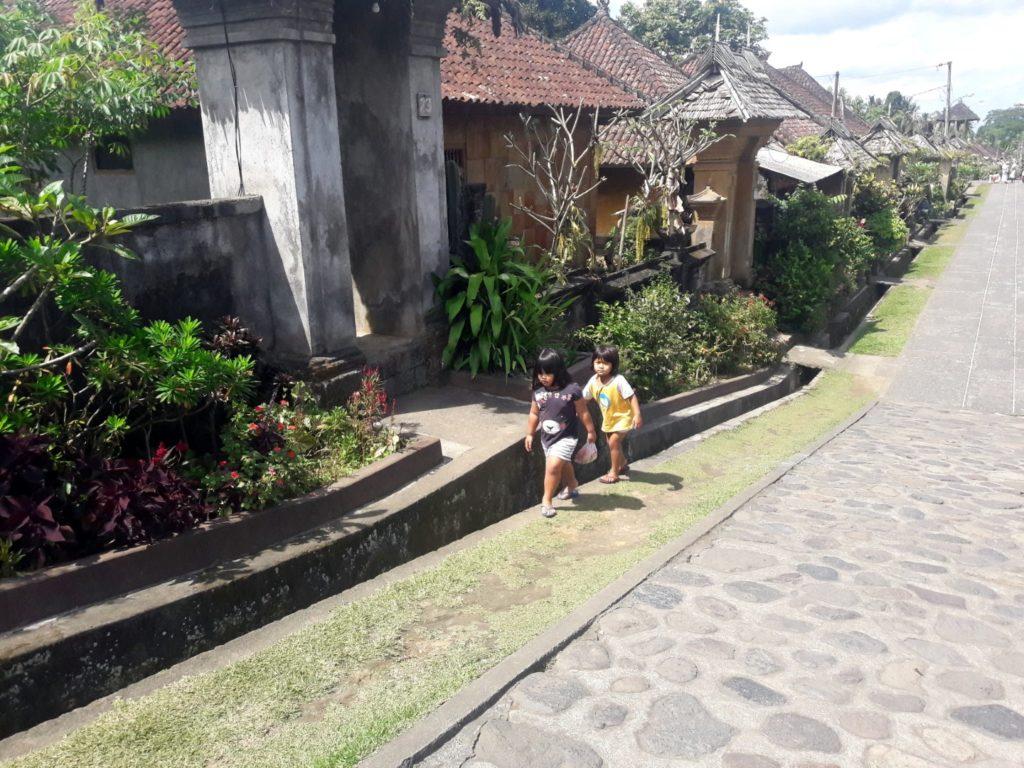 satul penglipuran bali copii localnici