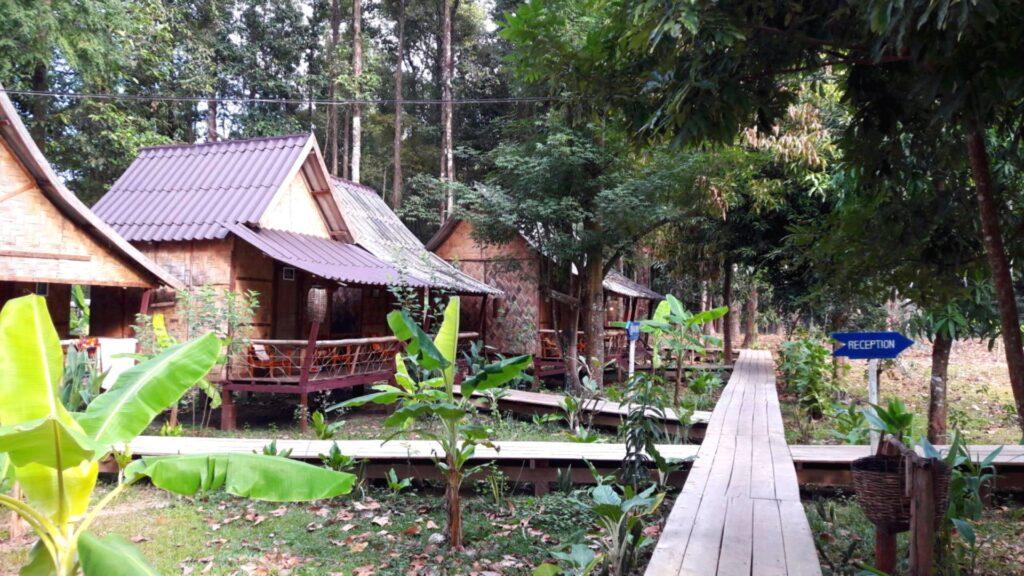 spring river resort laos cazare cabane bambus