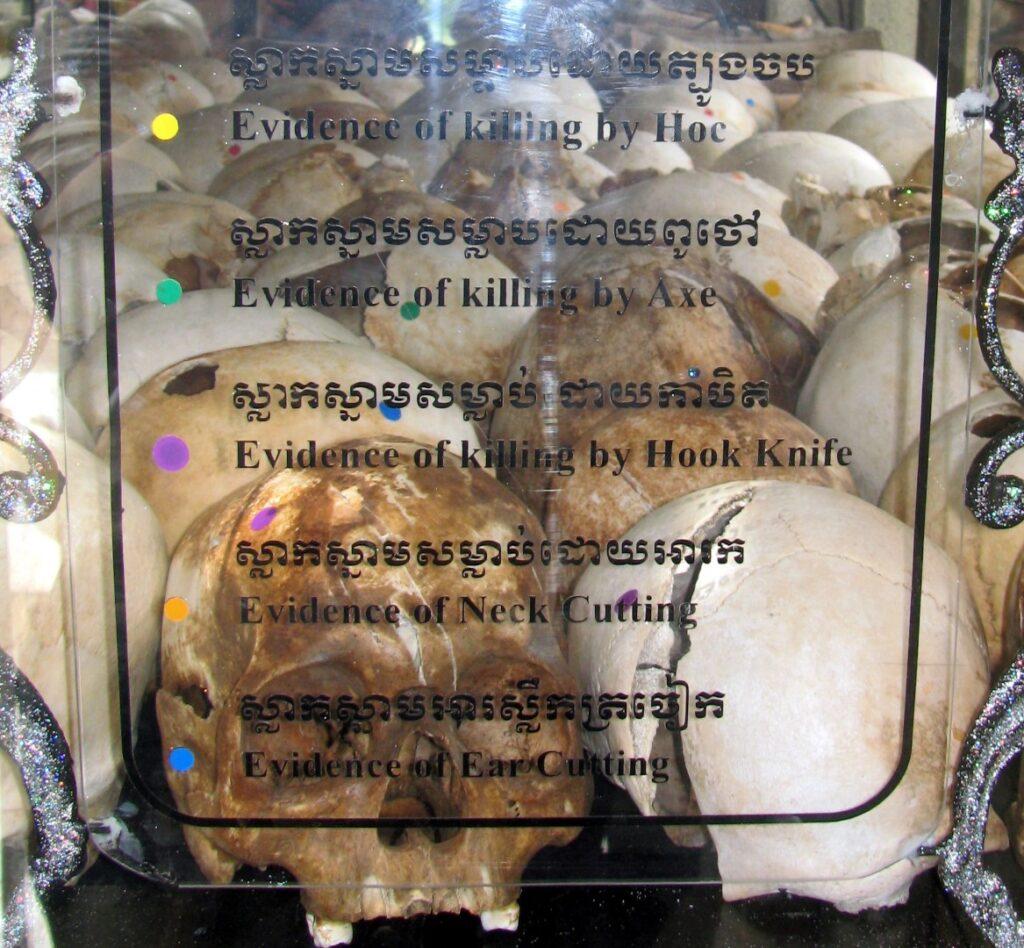 cranii killing fields cambodgia